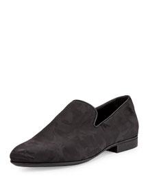 Sloane Men's Camo-Print Shiny Slipper, Black