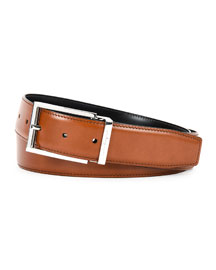 Radica Reversible Leather Belt, Brown/Black