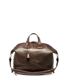 Nightingale Men's Leather Satchel Bag, Brown
