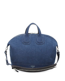 Nightingale Denim Satchel Bag, Denim