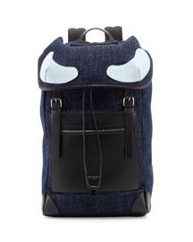 Rider Denim Backpack, Blue