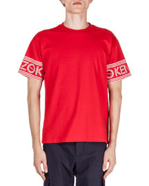 Logo-Print Short-Sleeve T-Shirt, Red