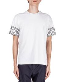 Logo-Print Short-Sleeve T-Shirt, White