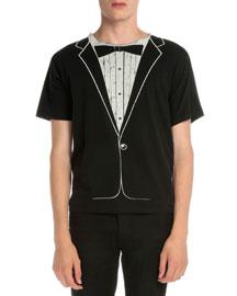 Tuxedo Graphic Short-Sleeve T-Shirt, Black
