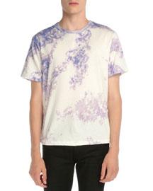 Tie-Dye Short-Sleeve T-Shirt, Purple