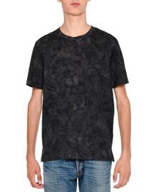Camu Butterfly Rockstud Short-Sleeve T-Shirt, Black Tonal
