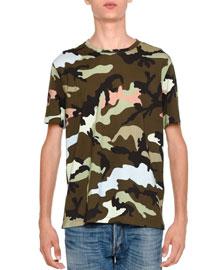 Camu Rockstud Short-Sleeve T-Shirt, Green