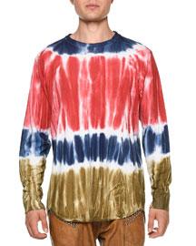 Tie-Dye Long-Sleeve T-Shirt, Multicolor