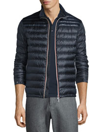 Daniel Quilted Puffer Jacket, Navy
