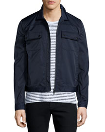 Tech Zip-Up Shirt Jacket, Navy