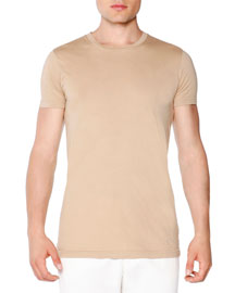 Slim-Fit Chino T-Shirt, Beige