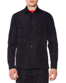 Button-Down Field Jacket, Black