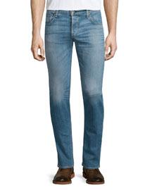 Standard Issue 2 Light-Wash Denim Jeans, Dark Blue
