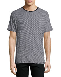 Rupert Striped Short-Sleeve T-Shirt, Light Gray