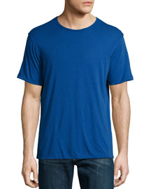 Mazarine Reversible Short-Sleeve Jersey T-Shirt, Blue