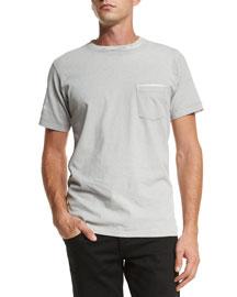 Garment-Print Short-Sleeve T-Shirt, Gray