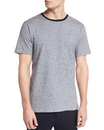 Jaxx Speckled Short-Sleeve T-Shirt, Navy