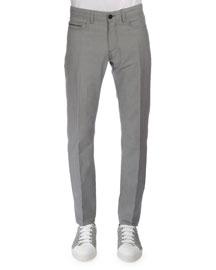 Five-Pocket Denim Pants, Dark Gray