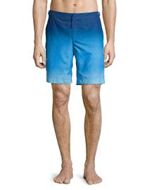 Dane Ombre Swim Trunks, Light Blue