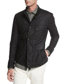 Leighwood Lightweight Wax-Coated Jacket, Black