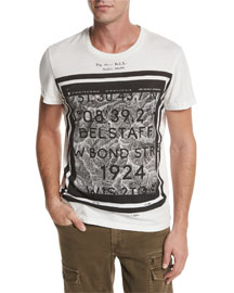 Tanner Coordinates-Graphic Short-Sleeve T-Shirt, White