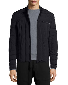 Wansford Lightweight Stretch-Nylon Jacket, Black