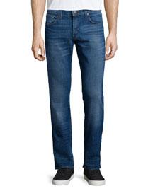 Kane Becker Straight-Leg Denim Jeans, Light Blue