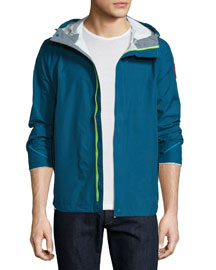 Alderwood Hooded Nylon Jacket, Dark Blue
