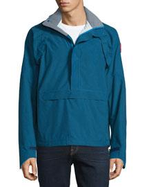 Brunswick Hooded Anorak Jacket, Midnight Blue