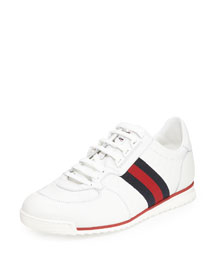 SL73 Lace-Up Sneaker, White