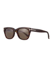 Snowdon Shiny Acetate Sunglasses, Brown