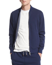 Zip-Up Spa Track Jacket, Ocean/Ardesia