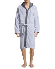 Terry Cloth Cotton Spa Robe, Gray
