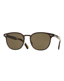 Sheldrake 54 Metal Sunglasses, Brown
