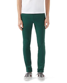 Highlands Fluid Stretch-Twill Pants, Green