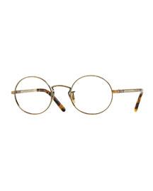 Overstreet 46 Round Fashion Glasses, Golden