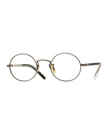 Overstreet 46 Round Fashion Glasses, Pewter