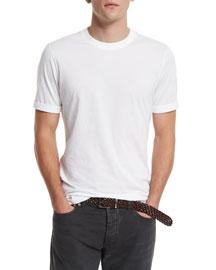 Crewneck Short-Sleeve T-Shirt, White