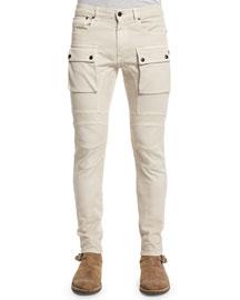 Felmore Slim-Fit Cargo Pants, Pale Stone