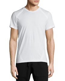 Trevyn Tape-Trim Crewneck T-Shirt, White