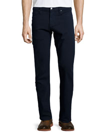 L'Homme Straight-Leg Twill Jeans, Navy
