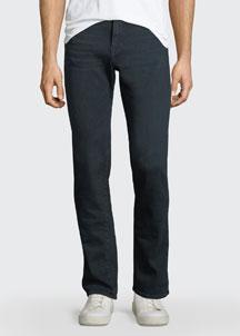 L'Homme Placid Straight-Leg Jeans, Dark Blue