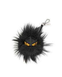 Fur Monster Charm for Men's Bag, Black