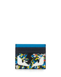 Confetti Monster Eyes Leather Card Case