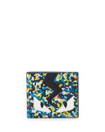 Monster Confetti Leather Wallet, Multicolor