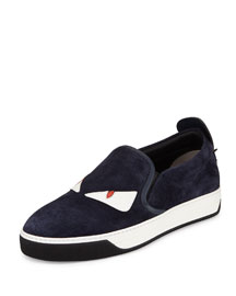 Monster Slip-On Skate Sneaker, Blue