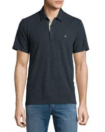 Standard Issue Short-Sleeve Polo Shirt, Slate Blue