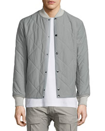 Focus Quilted Button-Up Jacket, Moon Mist