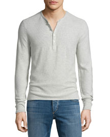 Gregory Long-Sleeve Henley Shirt, Luna Rock