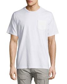 Flint Short-Sleeve Knit T-Shirt, Bright White